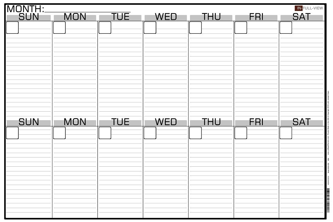 10 Week Calendar Print Out | Cover Letter