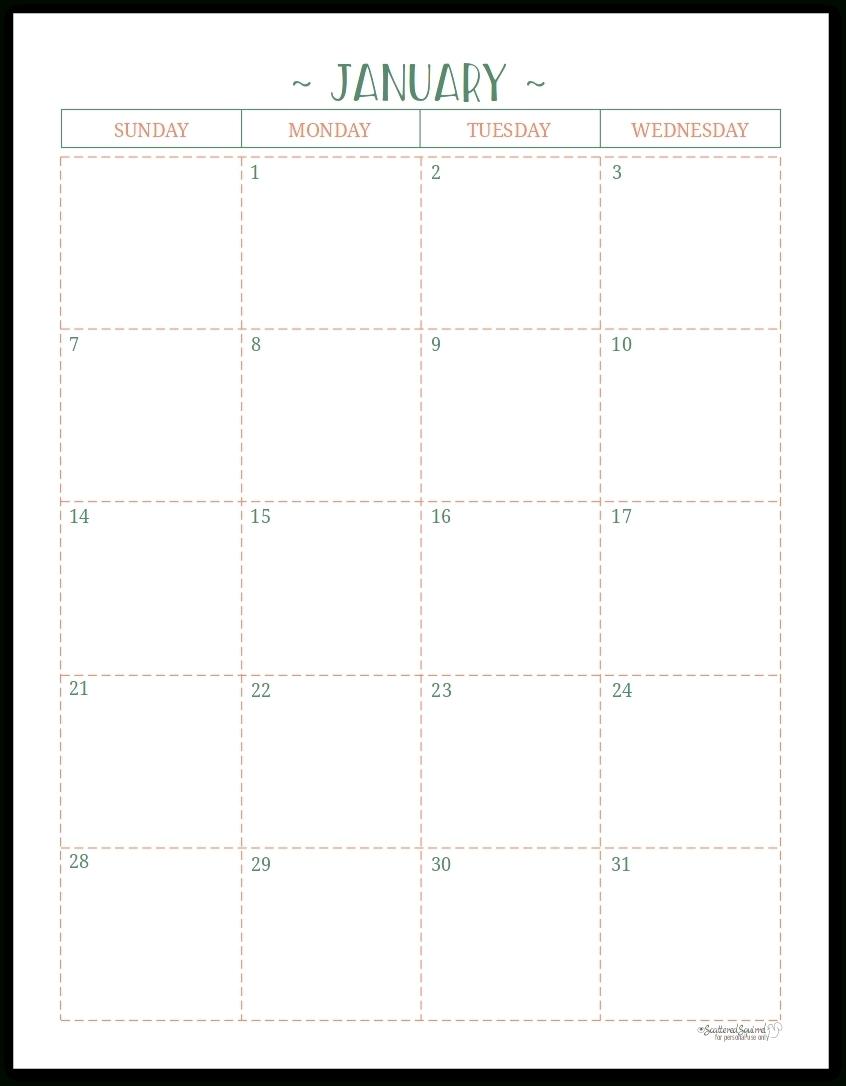 11X17 Printable Calendar 2020 | Printable Calendar 2020