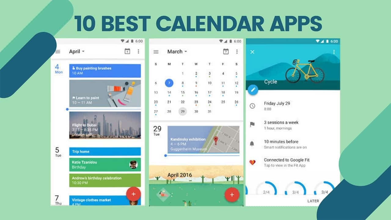 14 Best Free Calendar App For Android & Widgets