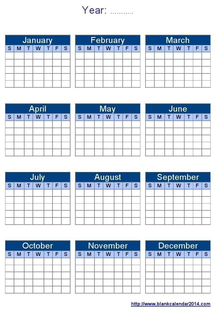 16 Blank Calendar Template Images - Printable Blank Monthly