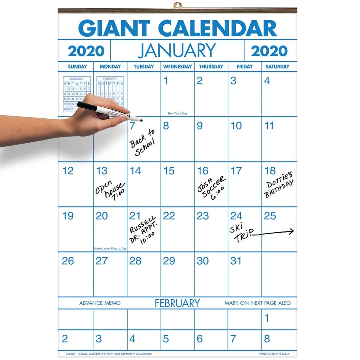 2 Year Large Calendar