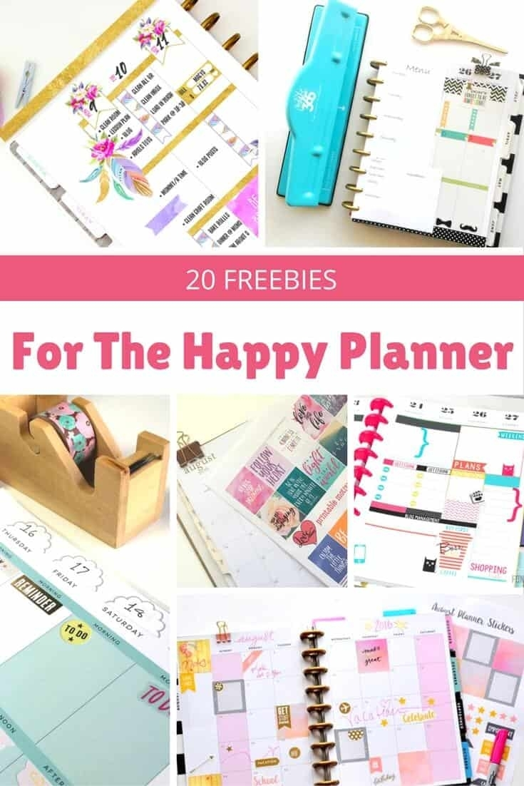 20 Awesome Happy Planner Free Printables - Diy Candy