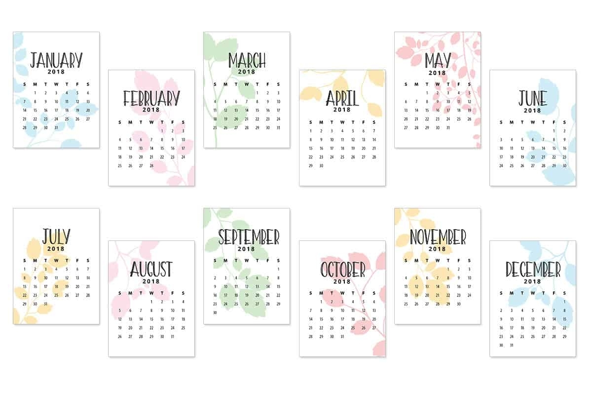 2018 Calendar Journal Cards - Love Paper Crafts