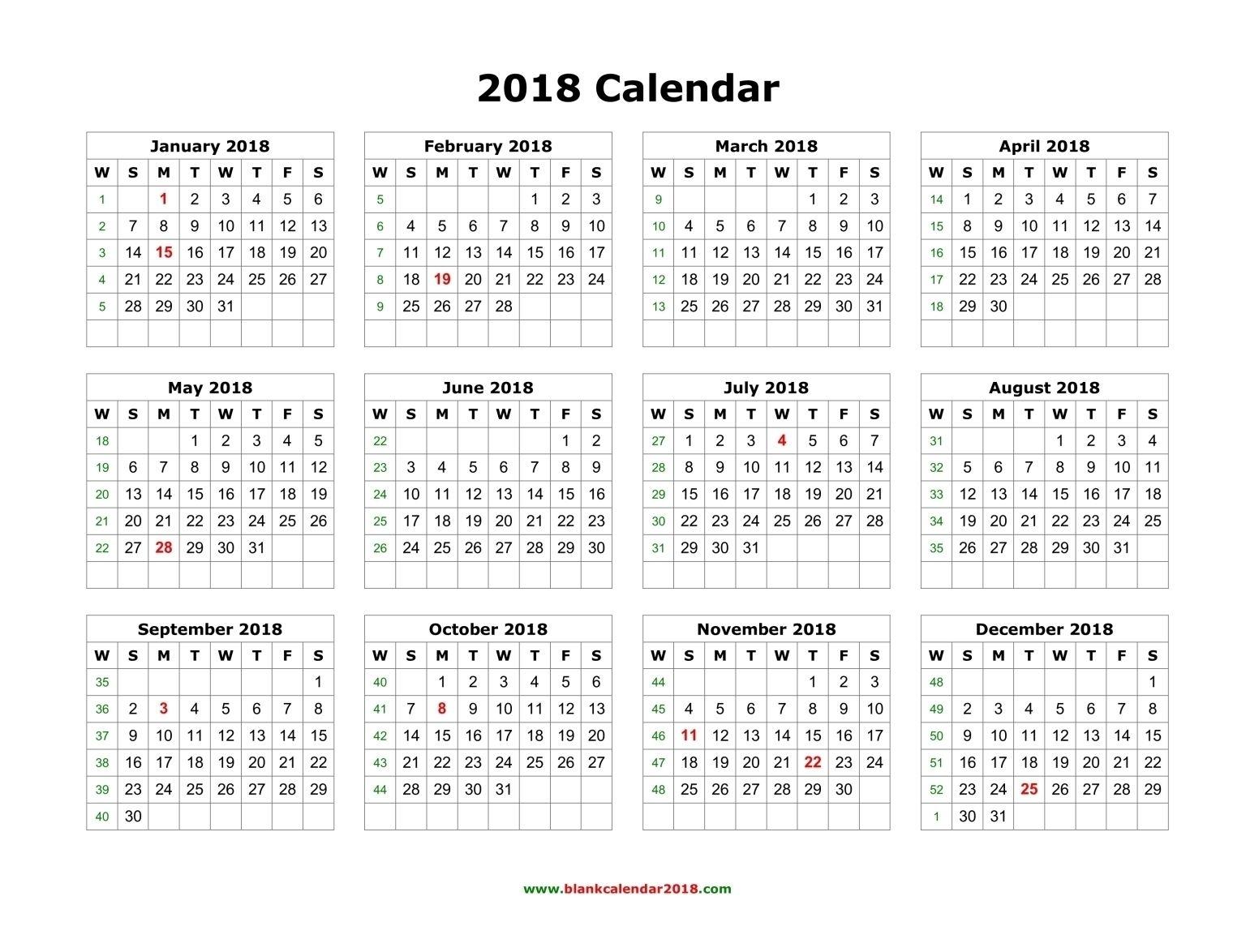 2018 Calendar Printable #calendar #printable | 2018 Calendar