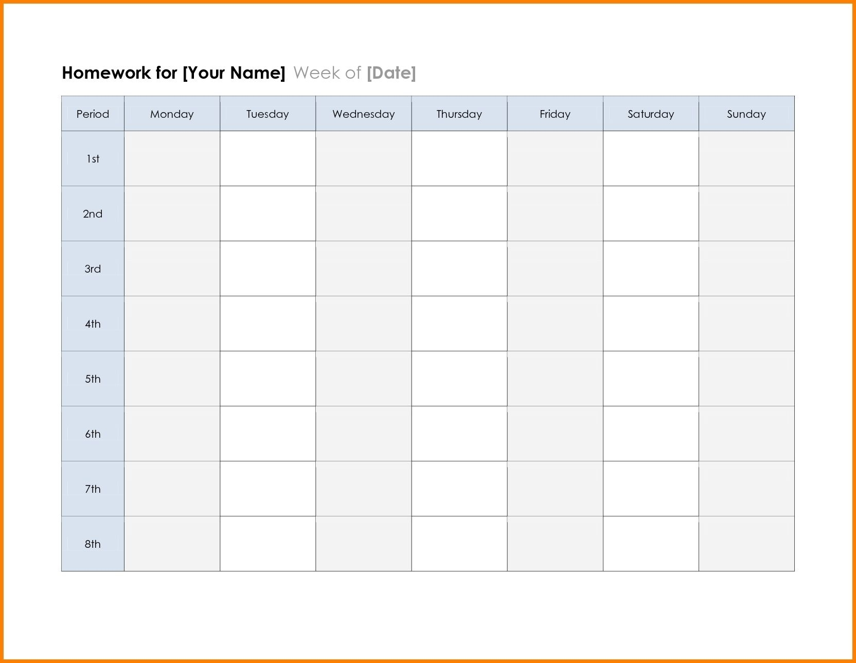 2018 Calendar Printable Planner Template Excel Word Pdf
