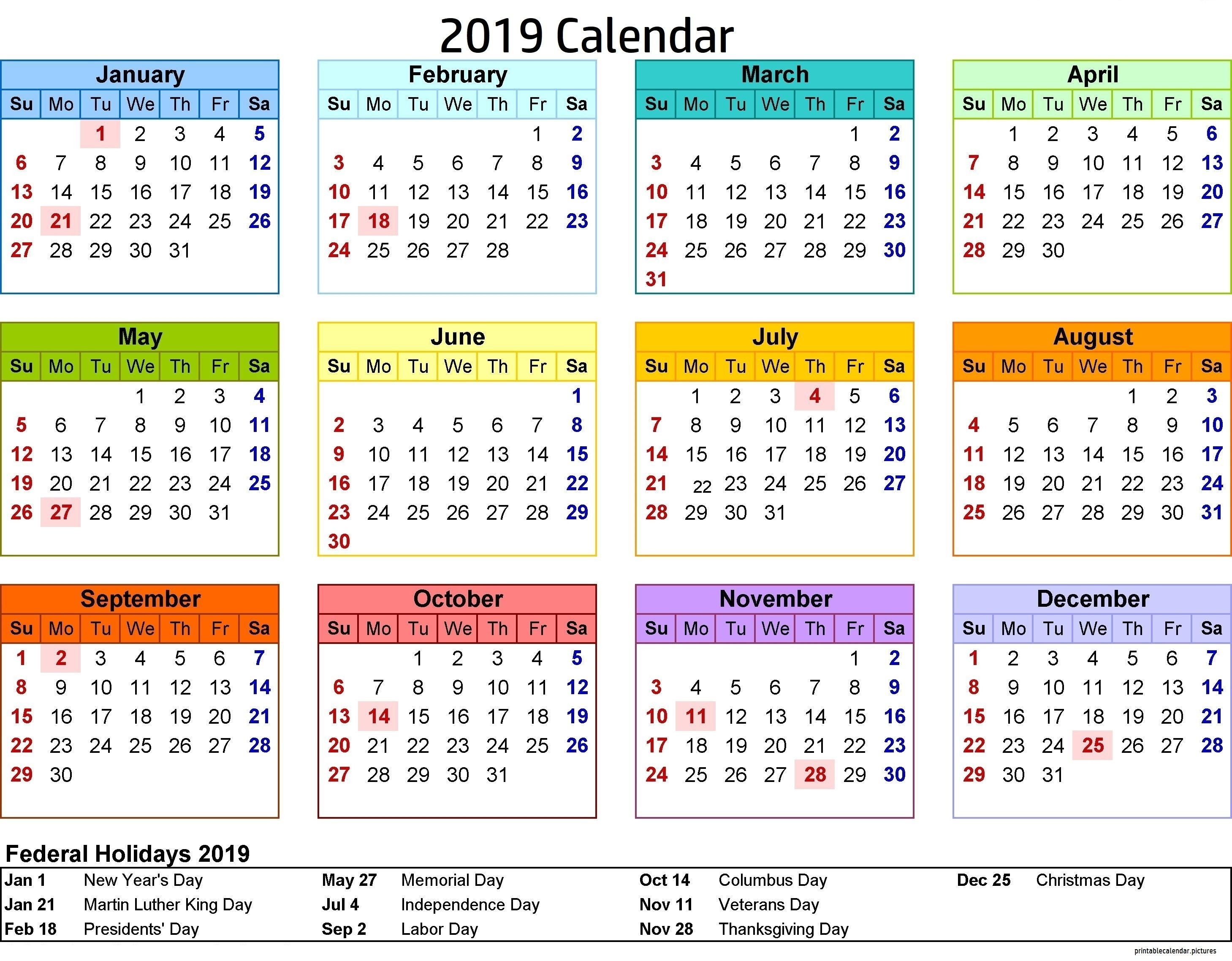 2019 Calendar Philippines With Holidays | Calendar 2019