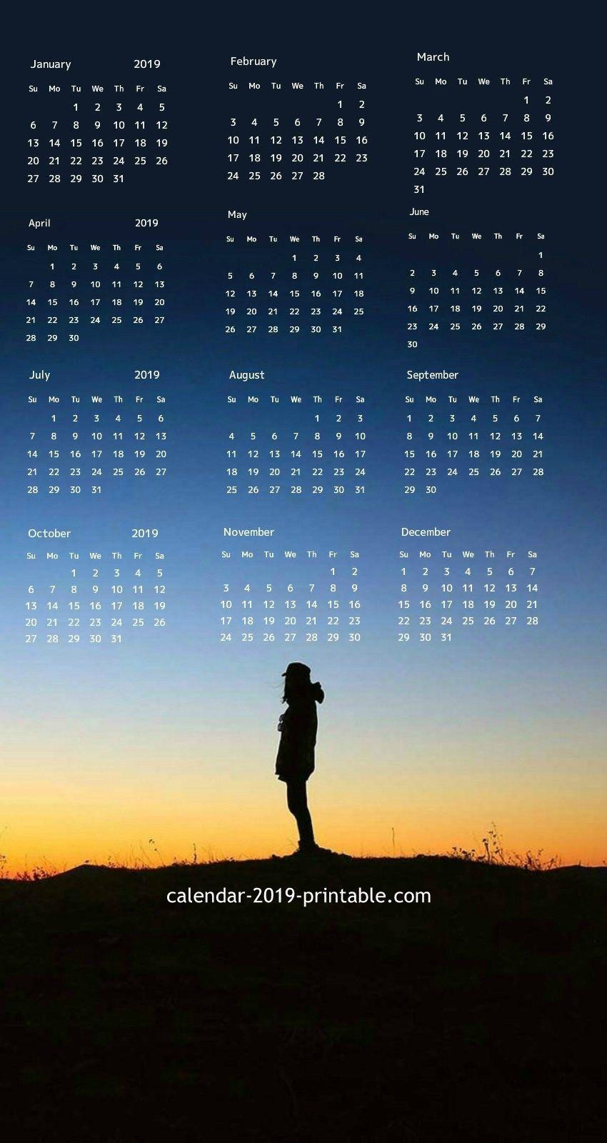 2019 Iphone Calendar Wallpaper In 2019 | Calendar Wallpaper