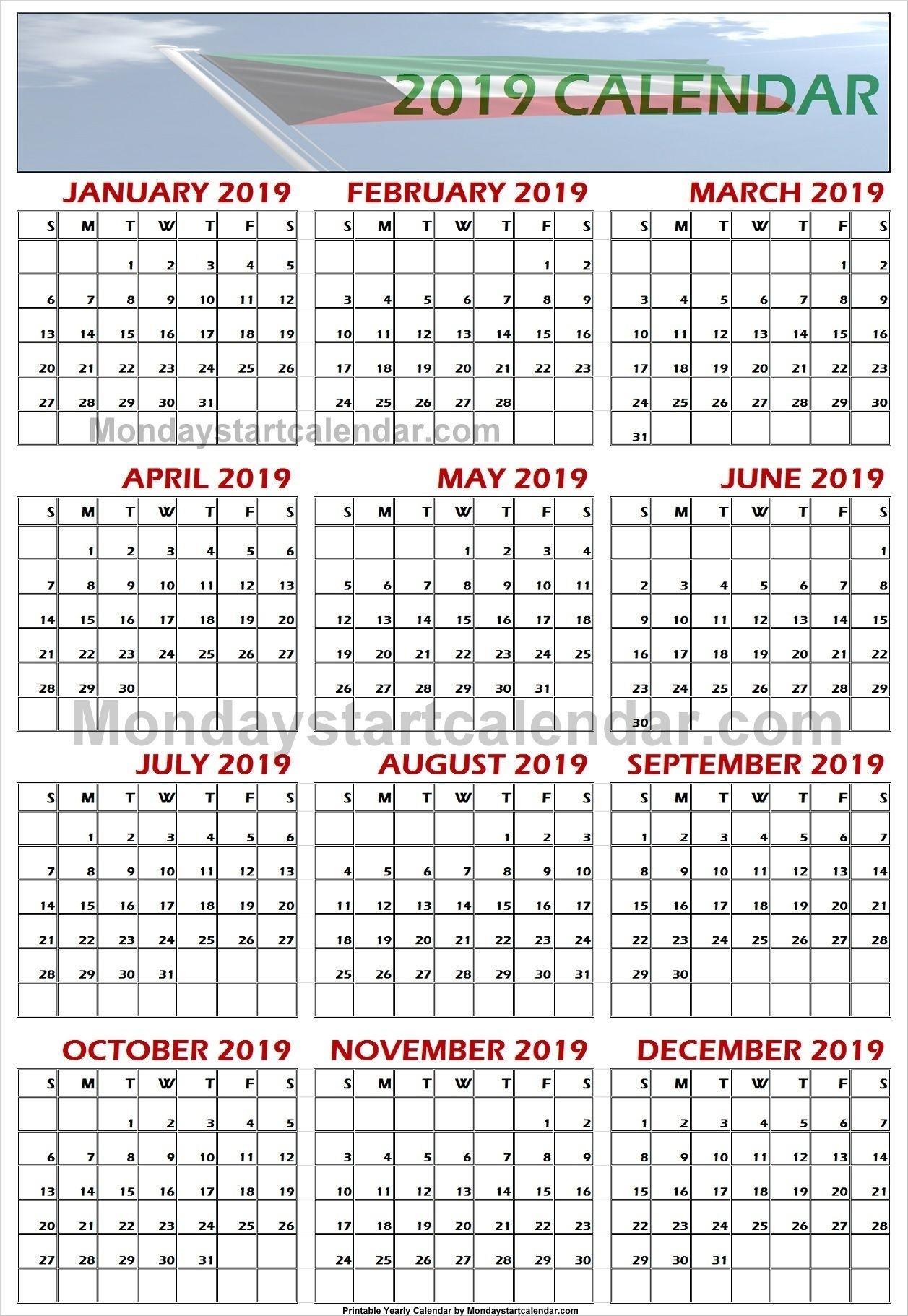 2019 Kuwait Calendar | Calendar, School Holiday Calendar