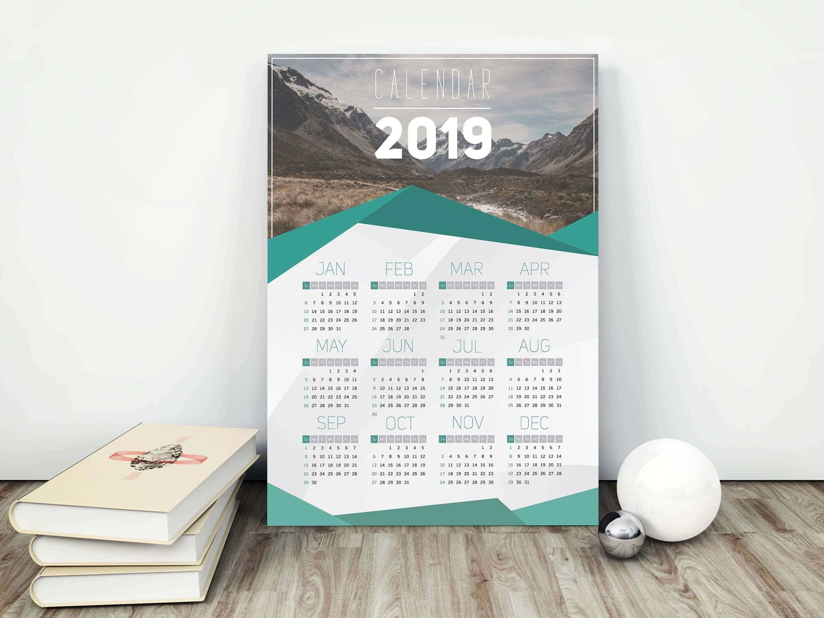 2019 Mountains Calendar, 2019 Wall Calendar, 2019 Calendar, Mountain, New  Year Gift, Calendar, Modern Calendar, Calendar