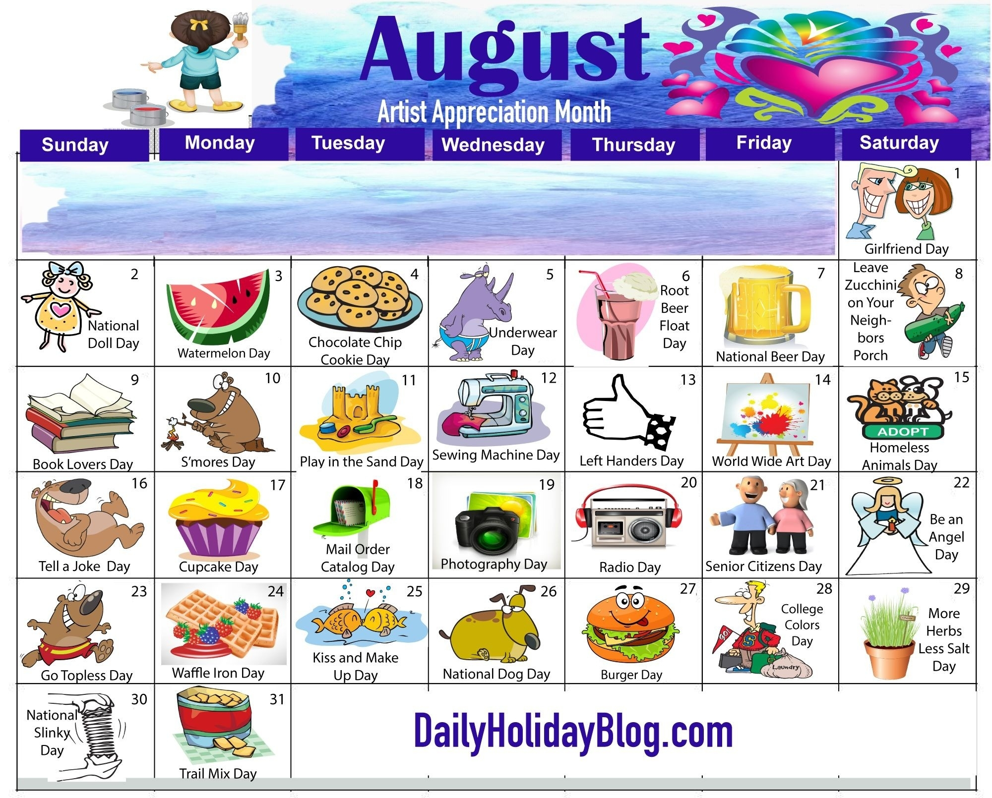 2019 National Days List July | Calendar Template