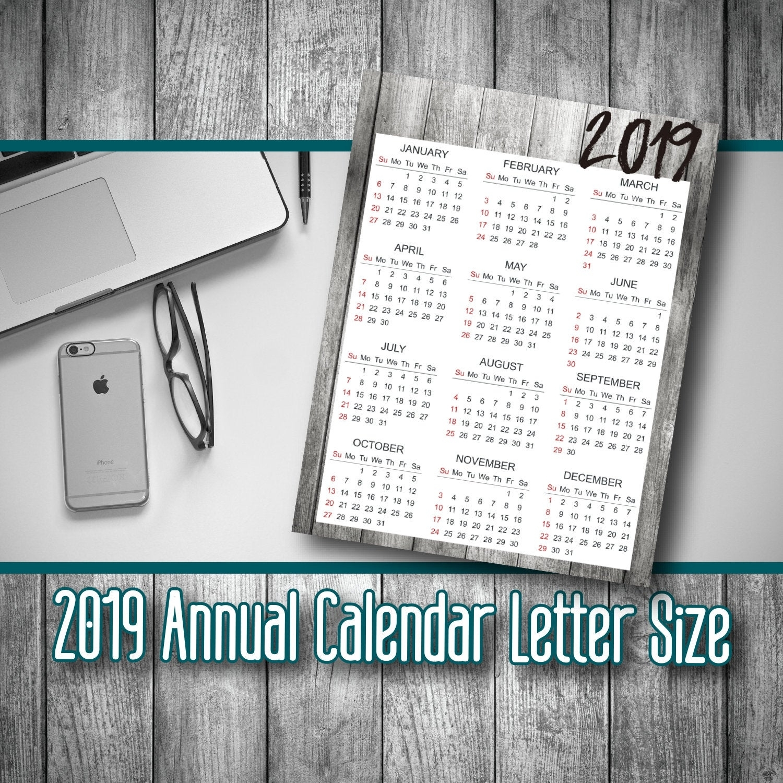 2019 Printable, Calendar Download, 2019 Calendar, Printable Calendar,  Calendar Planner 2019, Yearly Calendar, Digital Calendar
