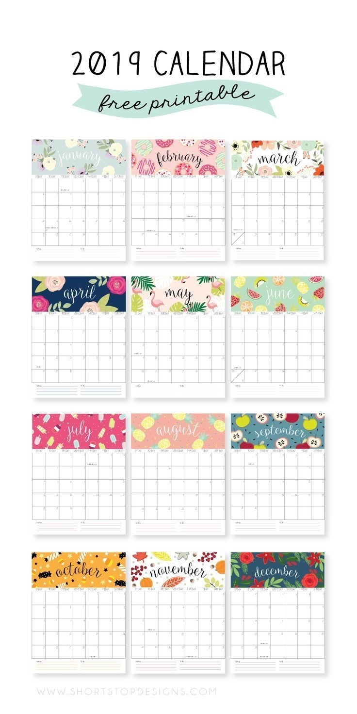 2019 Printable Calendar | Free Printable Calendar, Calendar