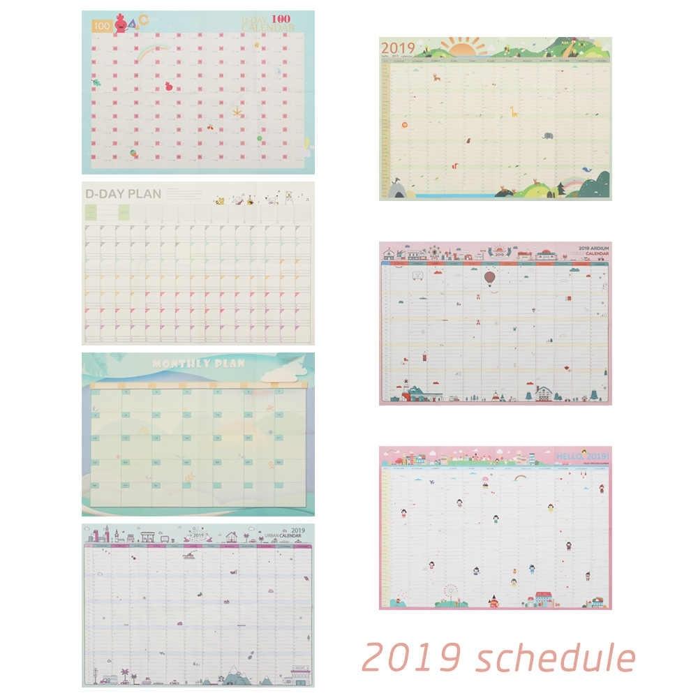 2019 Year 365 Days Wall Calendar Paper Yearly Calendar