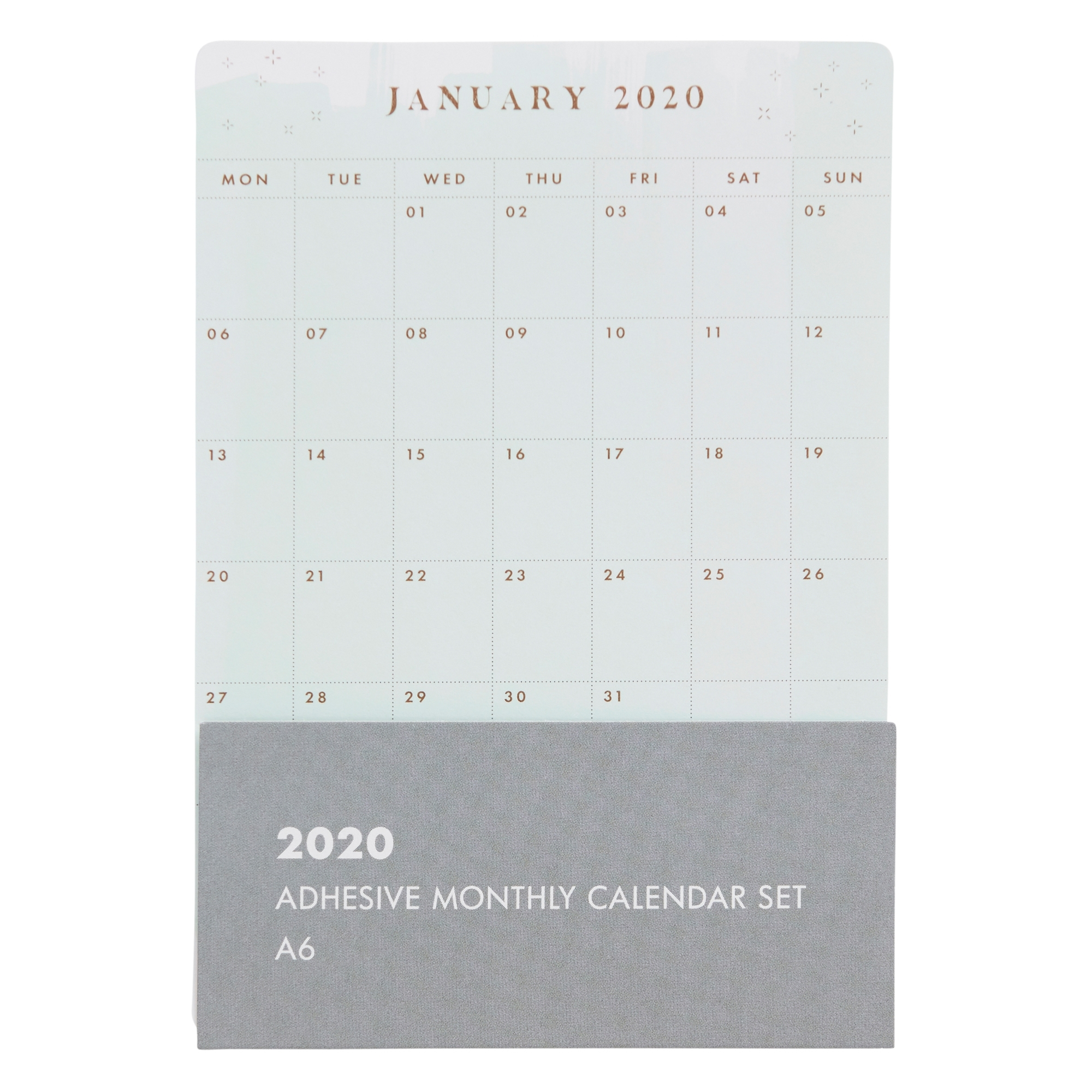 2020 Adhesive Monthly Calendar Set: She Shines