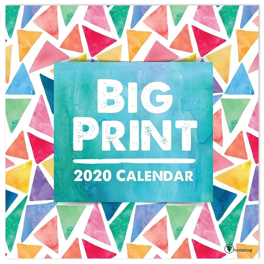2020 Big Print - Large Grid 12 X 12 Planning Wall Calendar - Walmart
