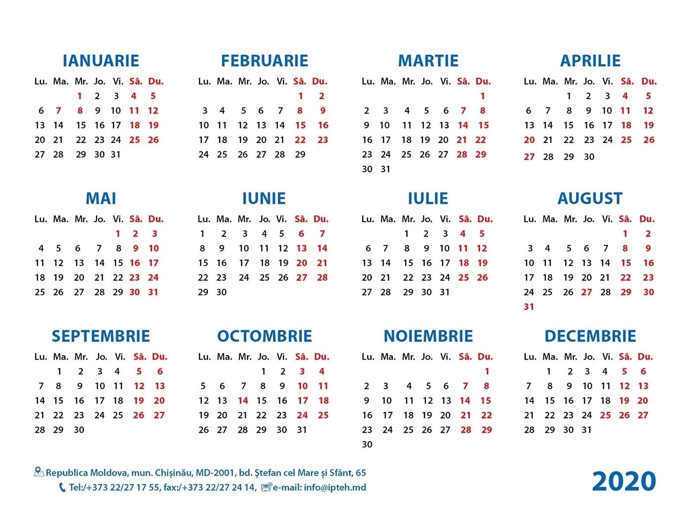 2020 Calendar Ortodox | Calendar Template Printable