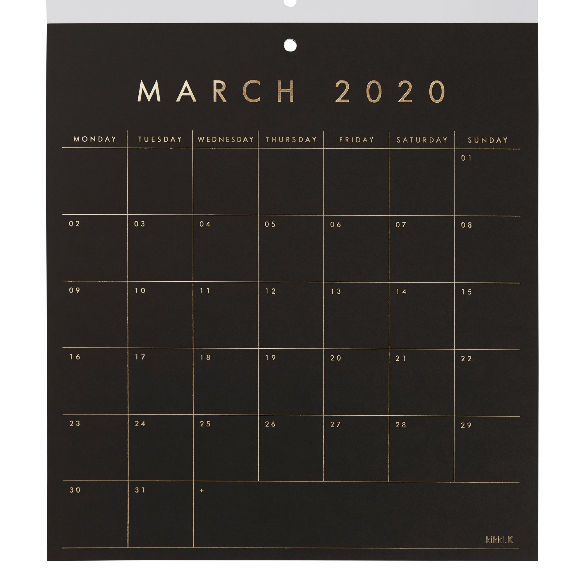 2020 Calendar Pad: Essentials | Calendars | Kikki.k Us