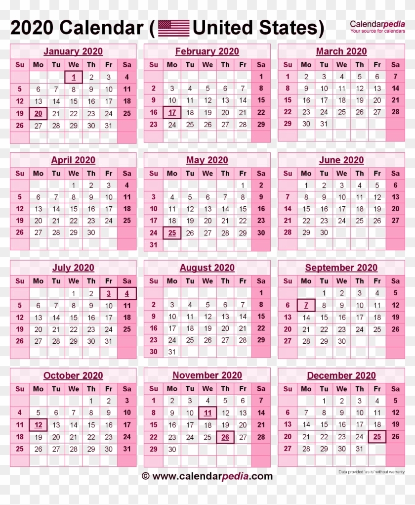 2020 Calendar Png Pic - 2019 Calendar With Government