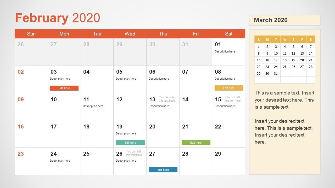 2020 Calendar Powerpoint Template