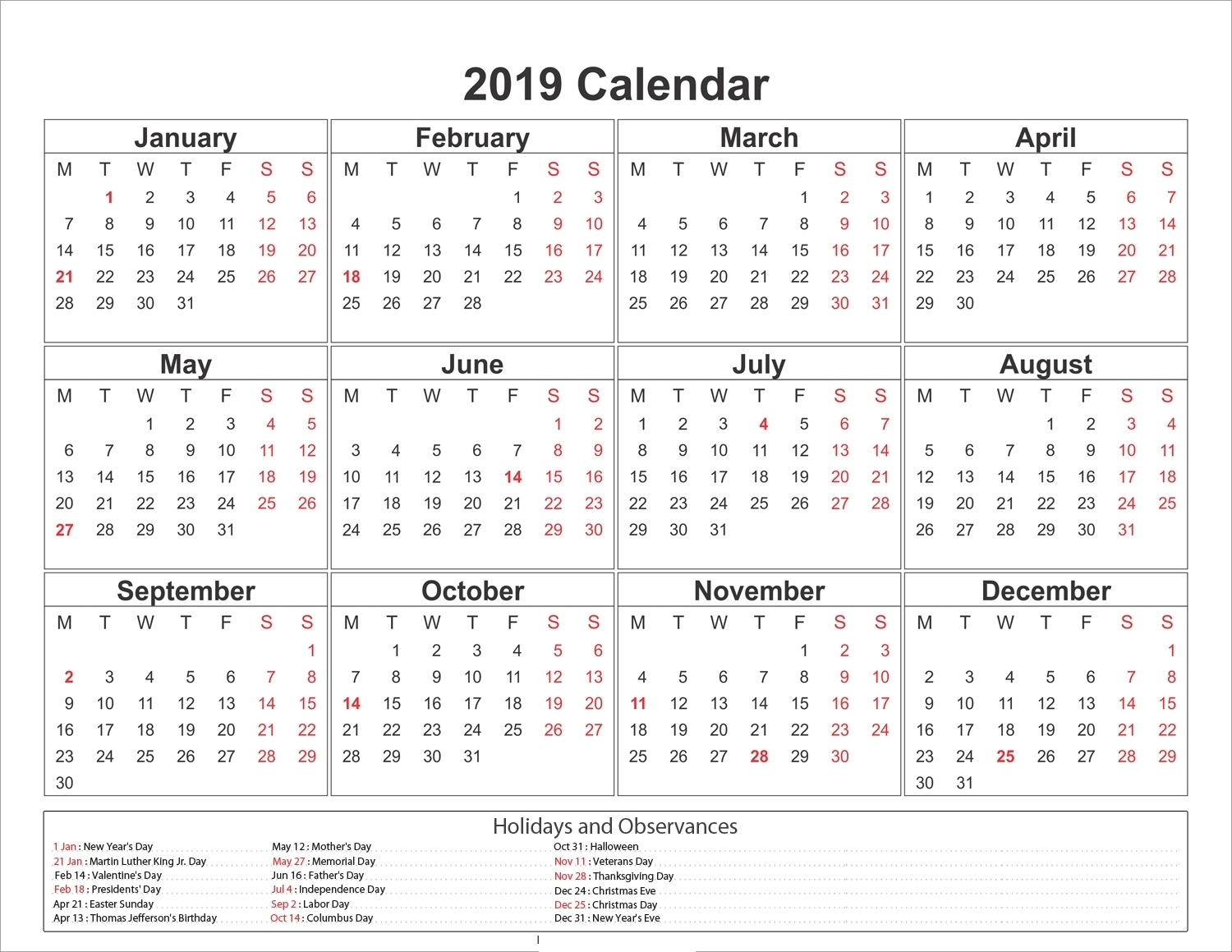 2020 Calendar South Africa With Public Holidays And School