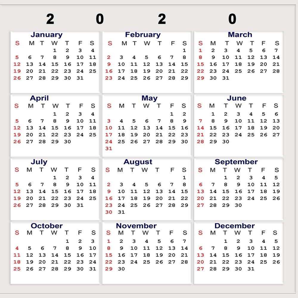 2020 Calendar Week Numbers   Month Yearly Calendar