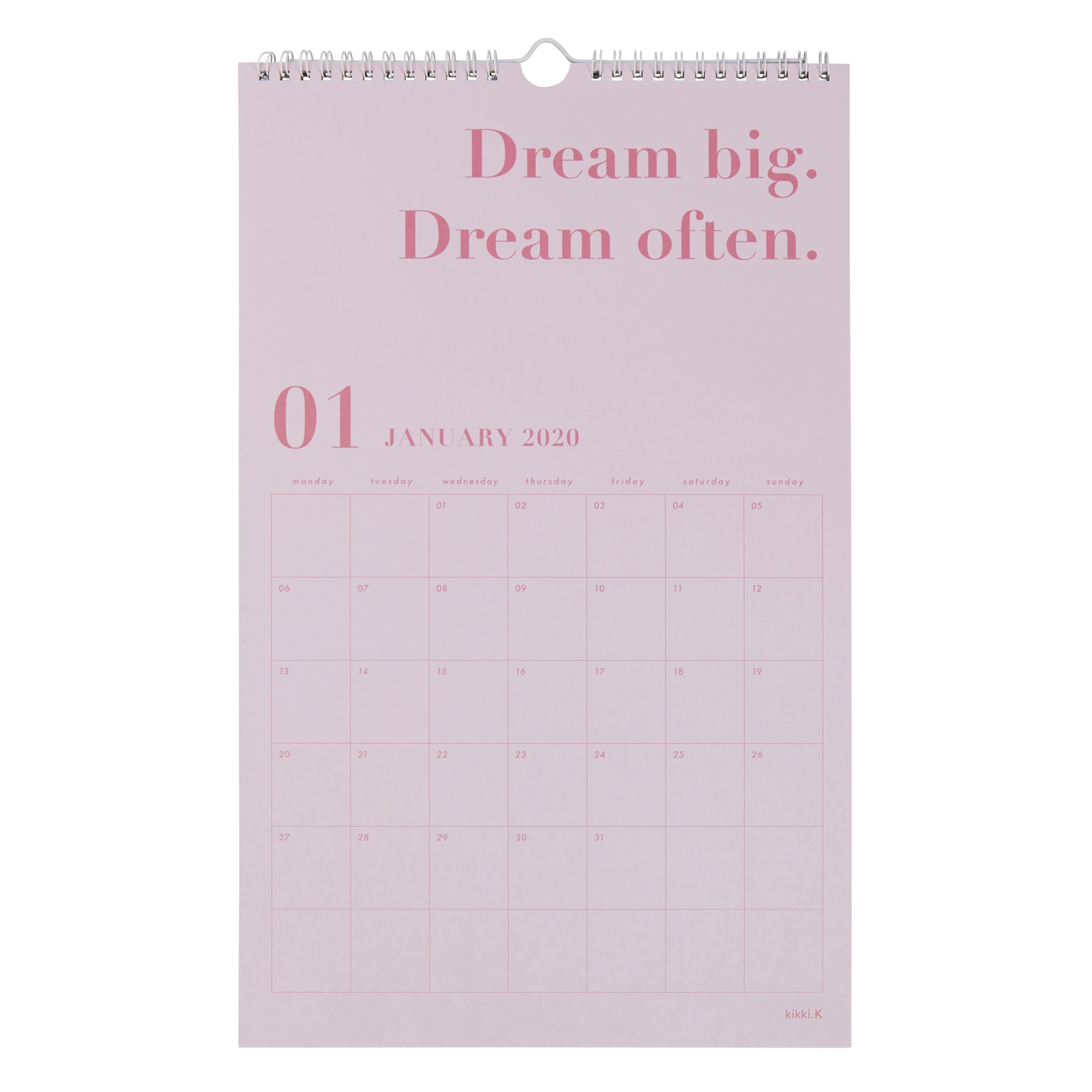 2020 Dream Life Wall Calendar White: Inspiration