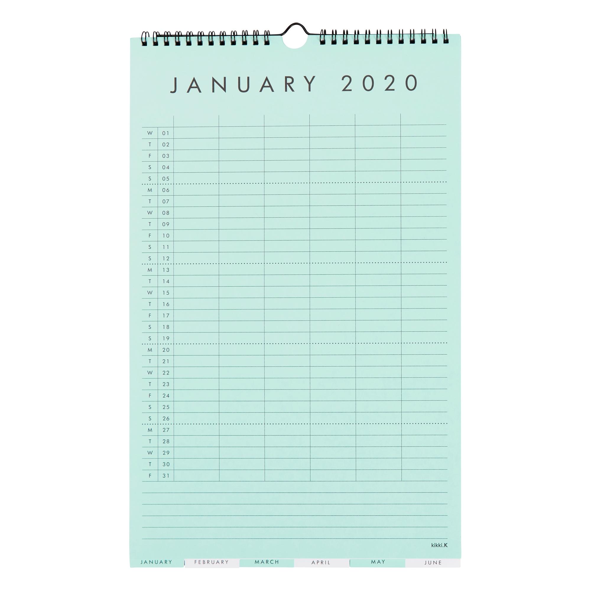 2020 Family Wall Calendar Small: Essentials