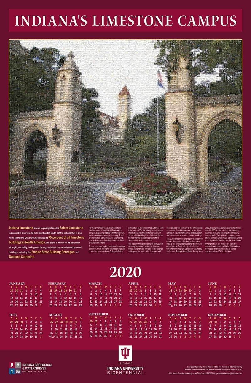 2020 Igws Indiana's Limestone Campus Calendar