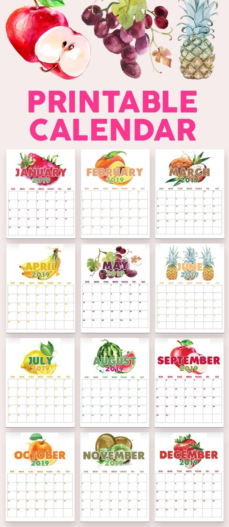 2020 Printable Calendars And Planners | Printables, 2019
