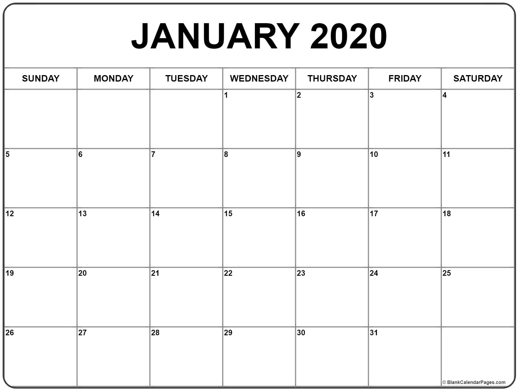 2020 Printable Monthly Calendar 8 X 11 | Month Yearly Calendar