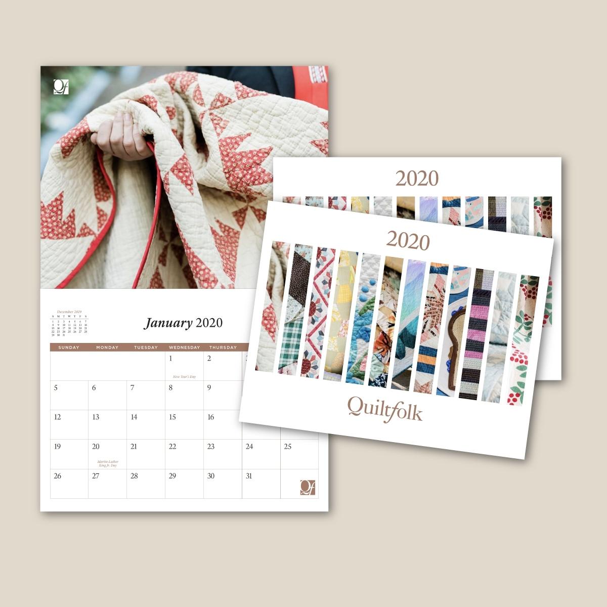 2020 Quiltfolk Calendar (Buy One, Get One Free) – Quiltfolk