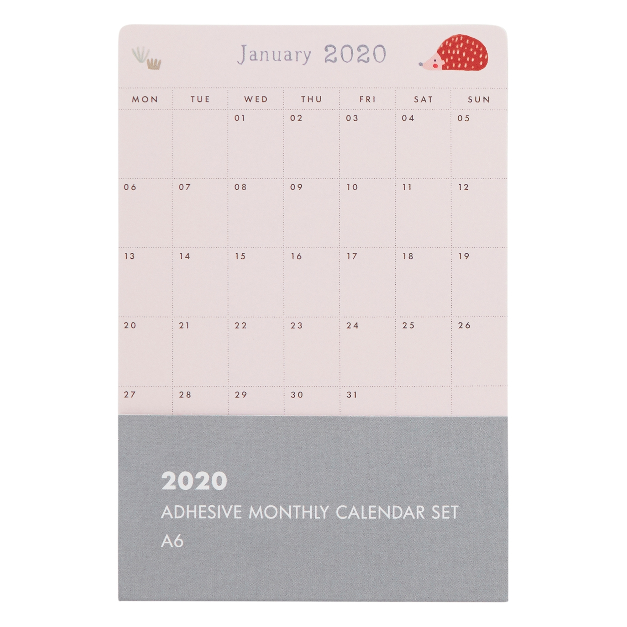 2020 Sweet Adhesive Monthly Calendar Set: Woodland