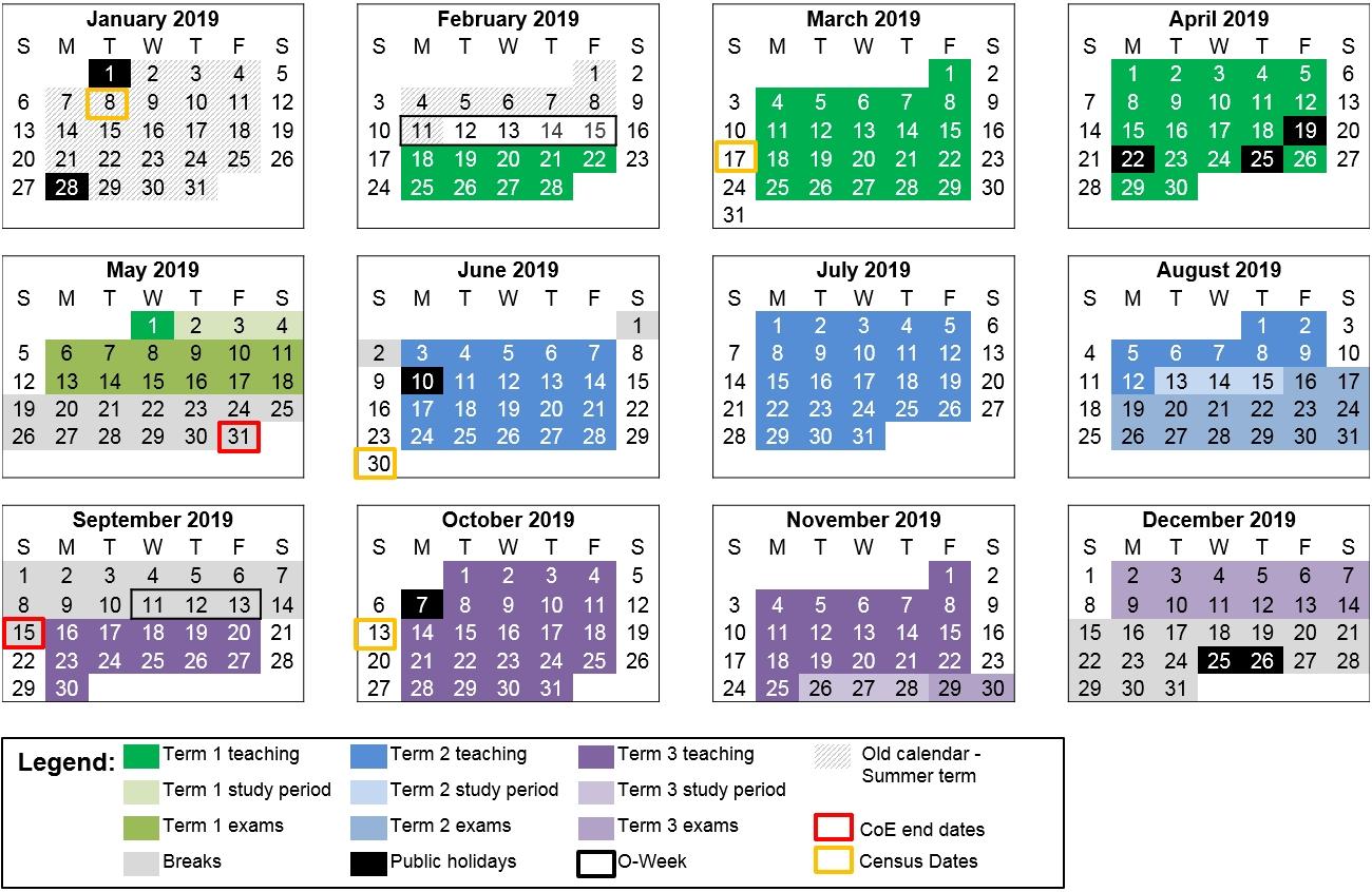 2020 Unsw Calendar | Calendar Printable Free