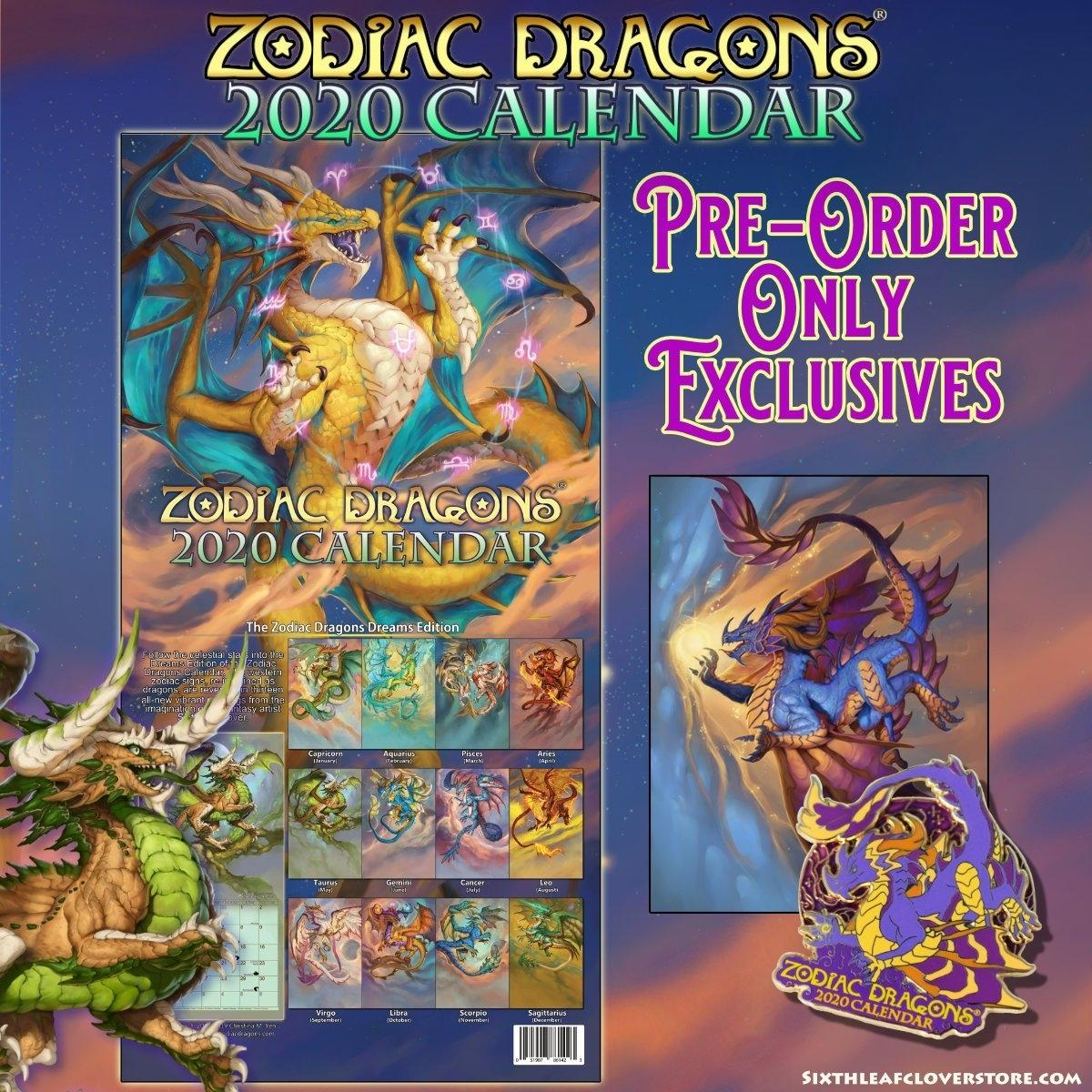 2020 Zodiac Dragons® Calendar Pre-Order Is Now Open To