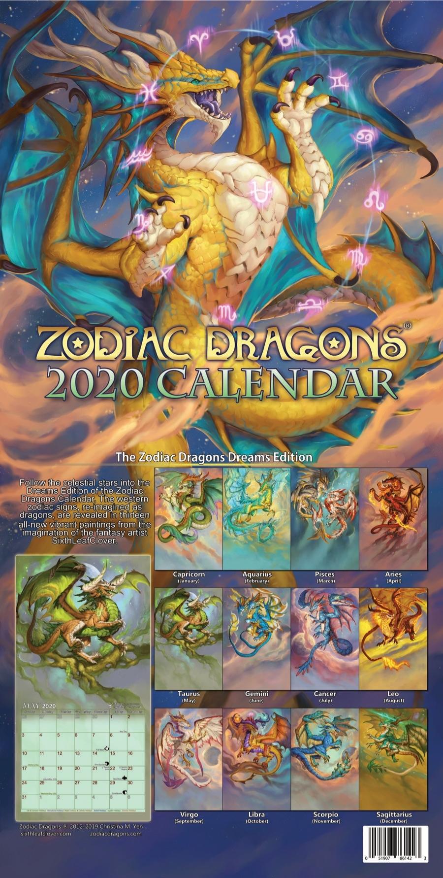 2020 Zodiac Dragons Calendar - Pre-Ordersixthleafclover