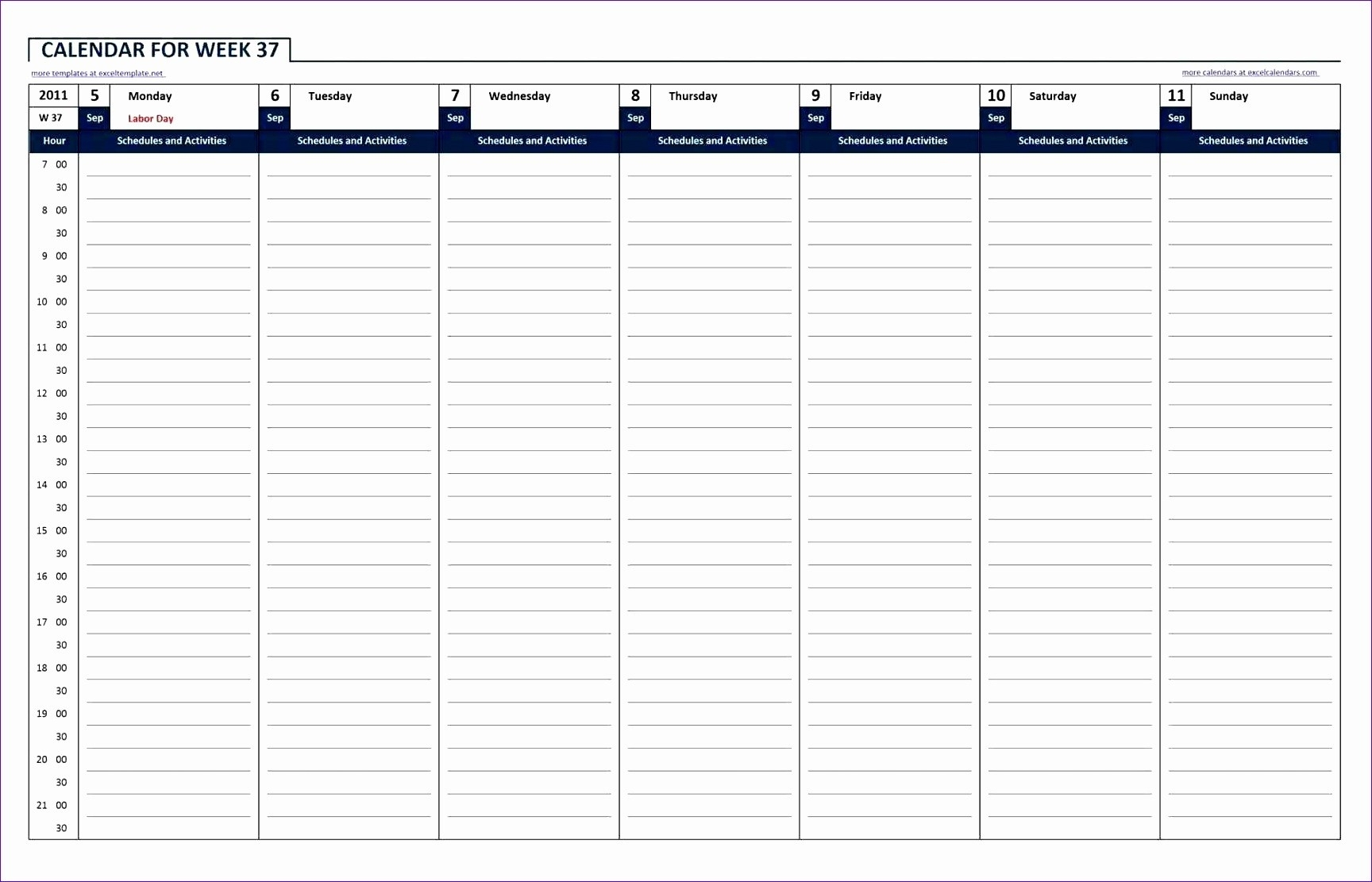 24 Hour Week Calendar Template 10 24 Hour Work Schedule