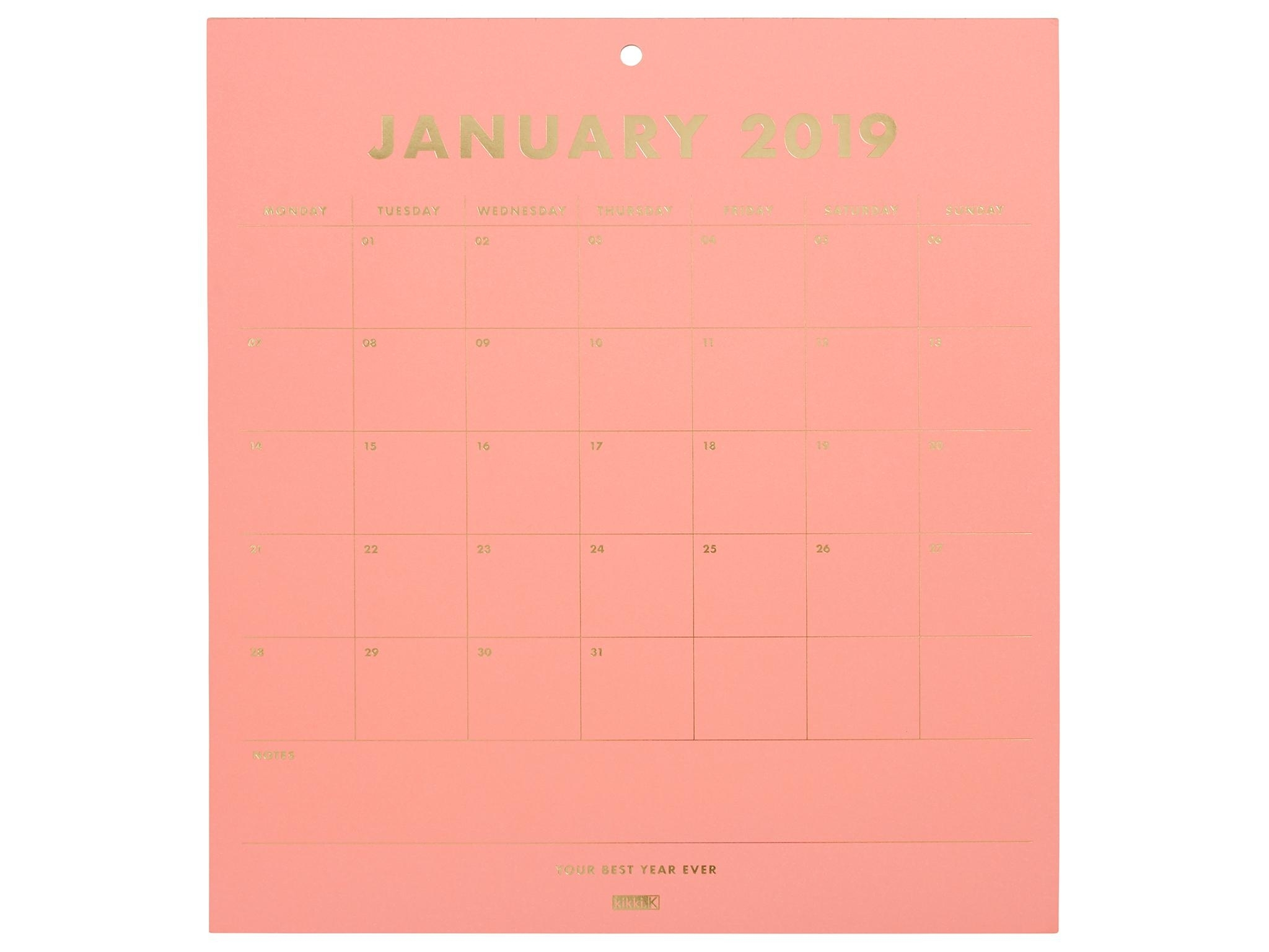 26 Best Calendars And Wall Planners For 2019 | The Independent