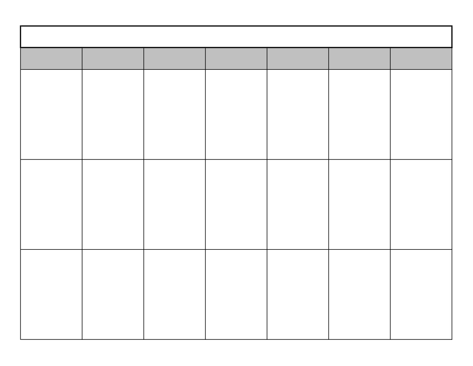3 Week Calendar Template Printable • Printable Blank