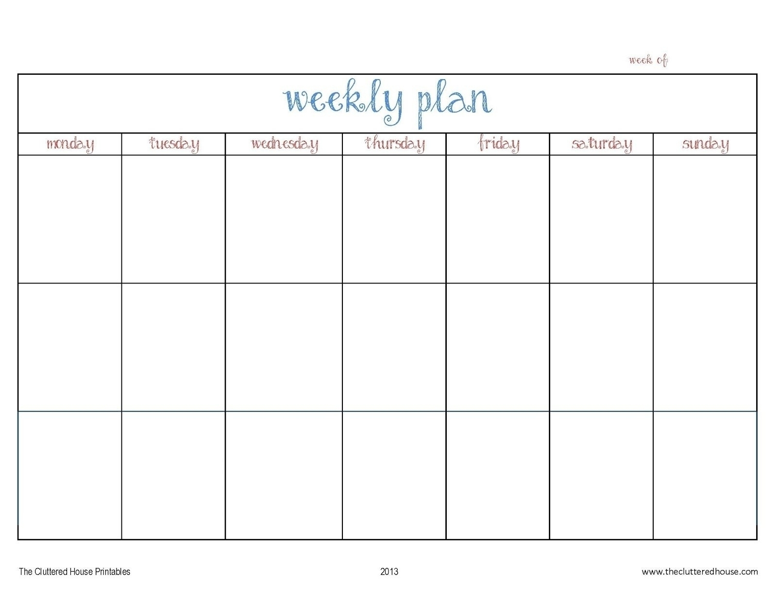 3 Week Calendar Template Printable | Igotlockedout