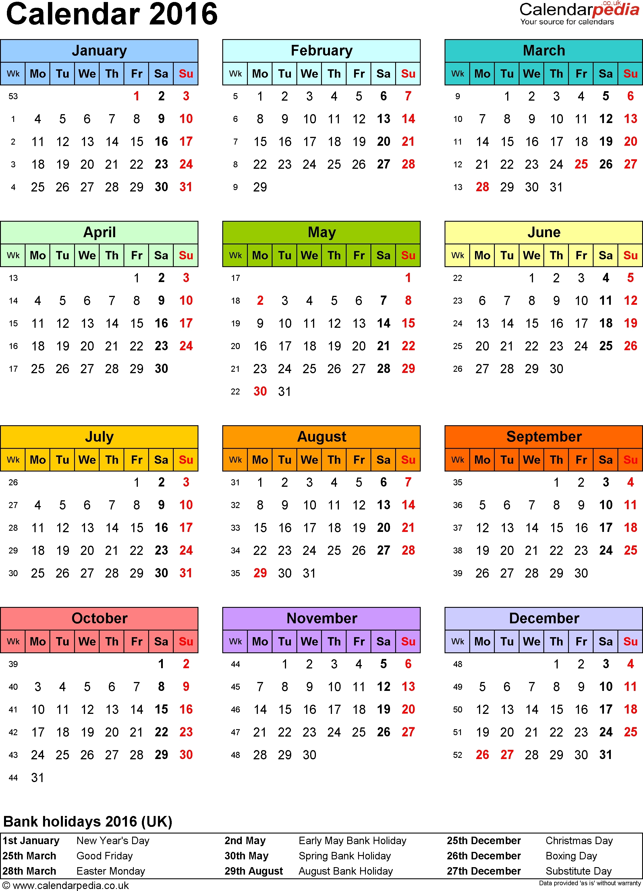 3 Year Calendar 2017 To 2019 To Print For Free | Calendar