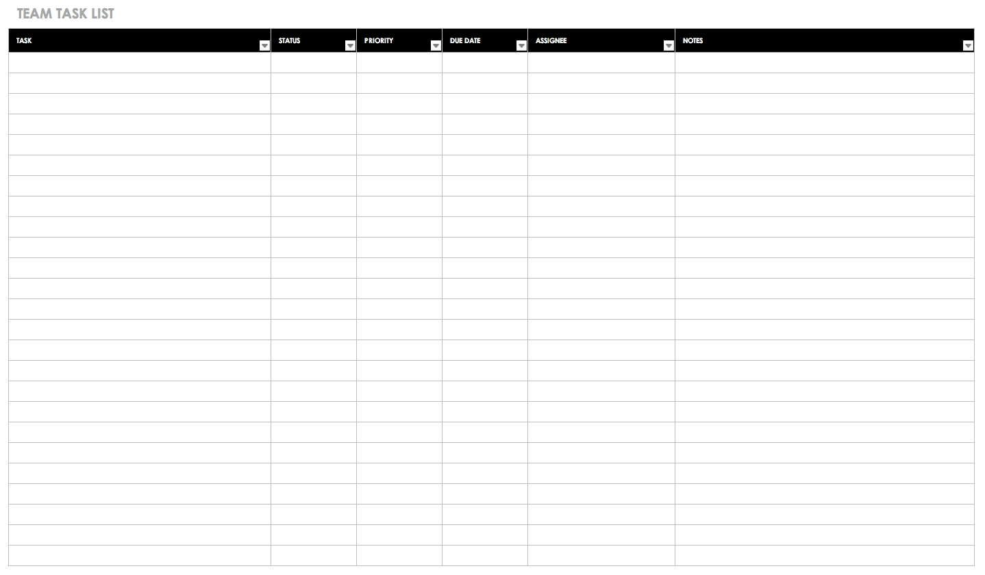30+ Free Task And Checklist Templates   Smartsheet