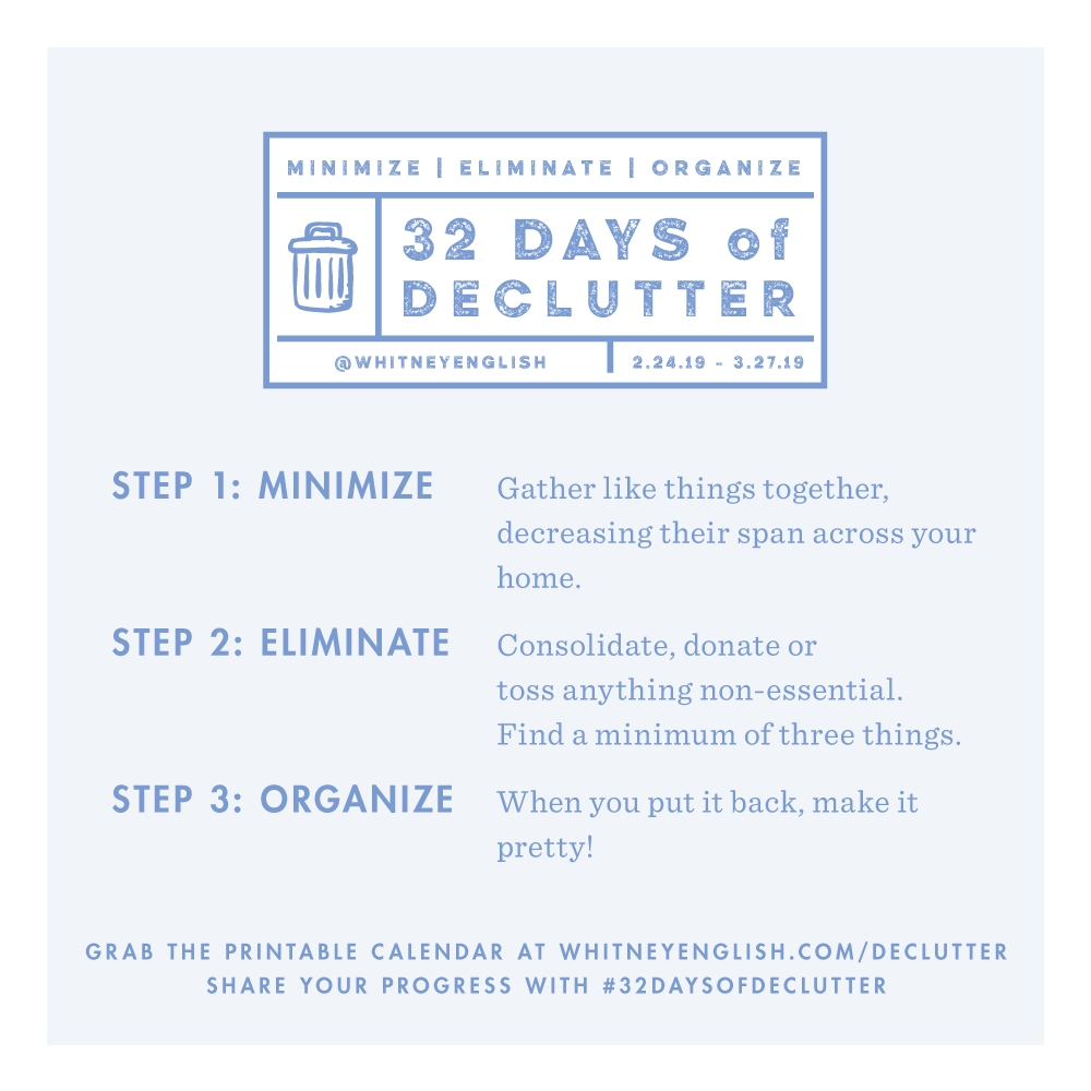 32 Days Of Declutter: Week One - Whitney English