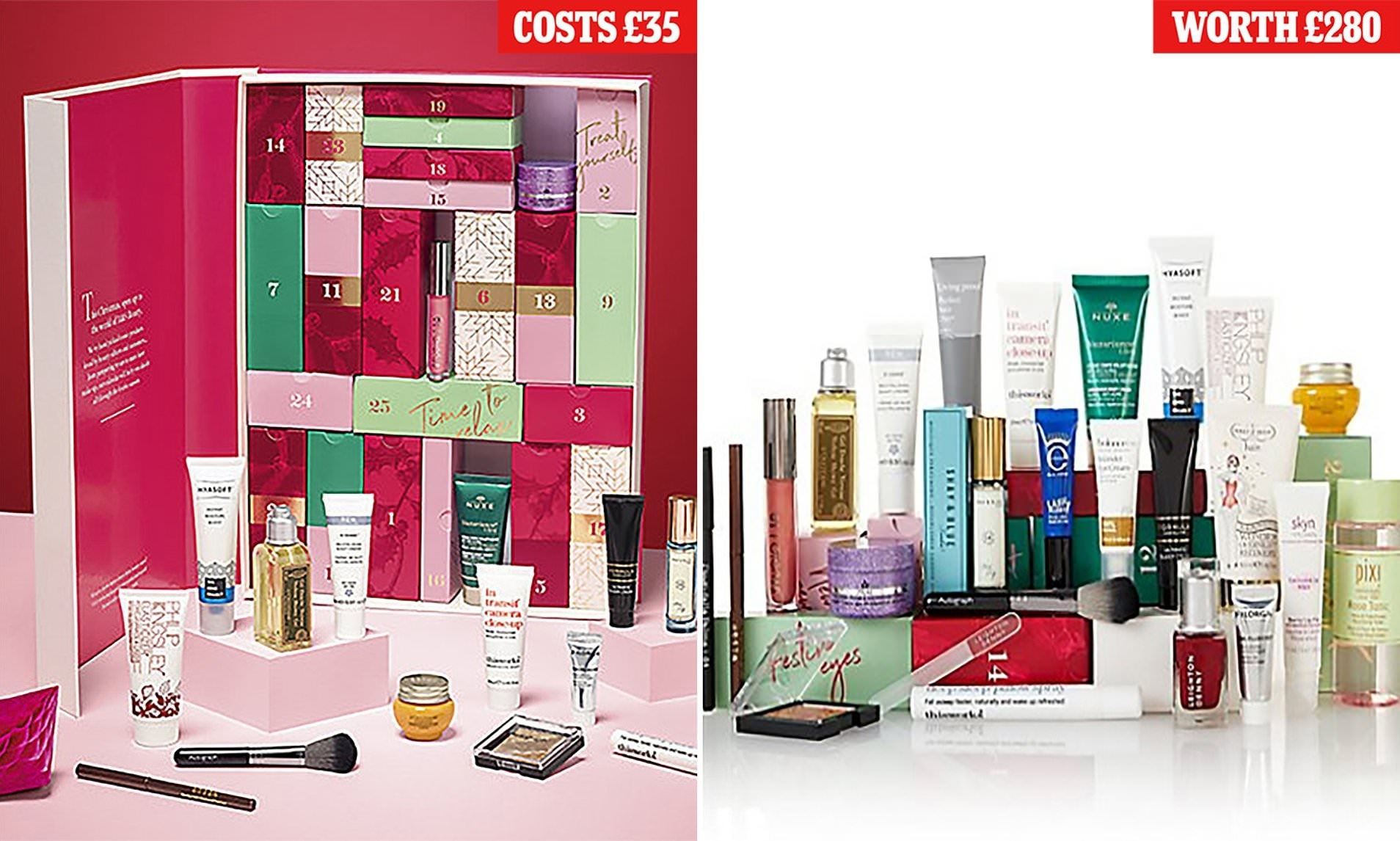 35 M&s Beauty Advent Calendar Contains £280 Of Beauty