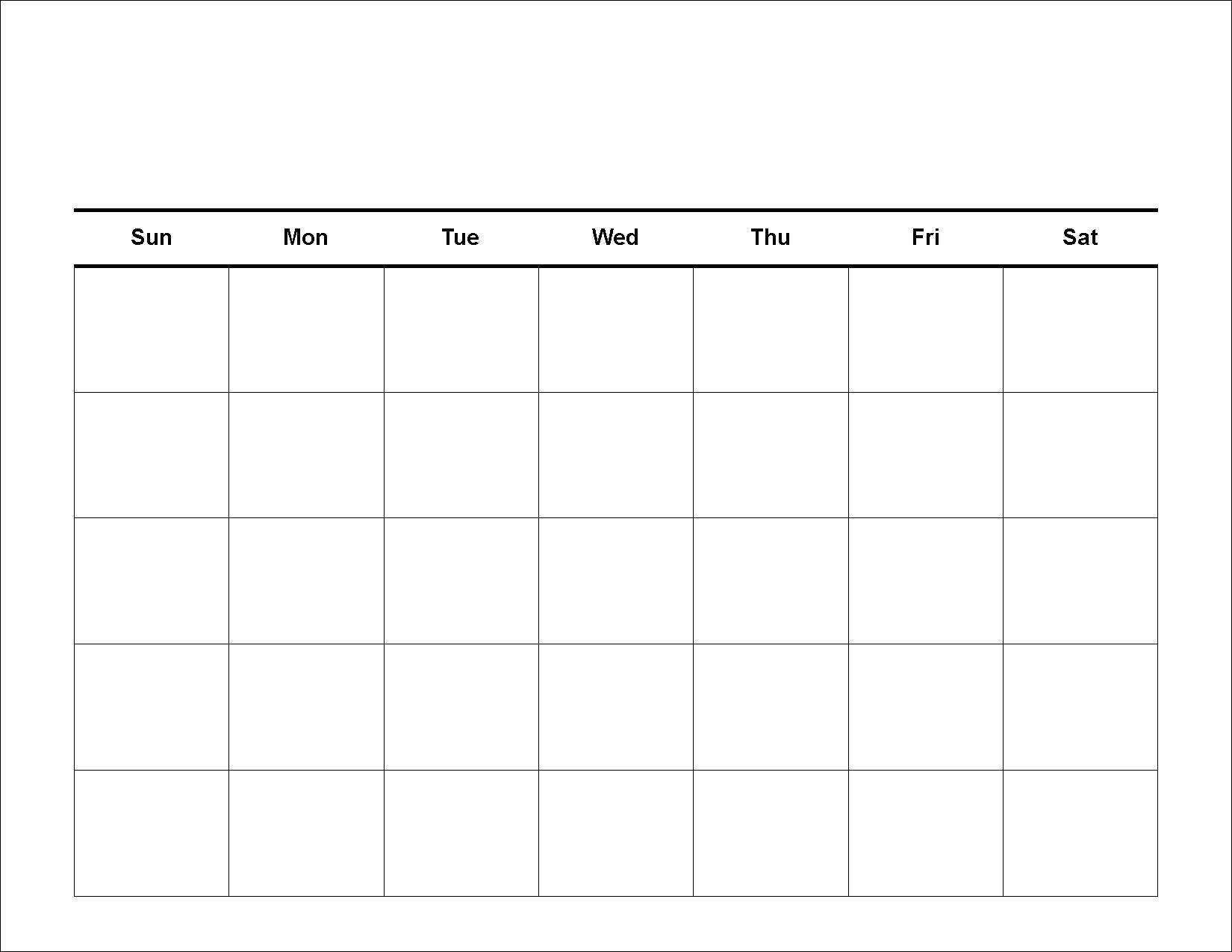 4 Weekly Calendar Printable Blank Calendar Template Photo