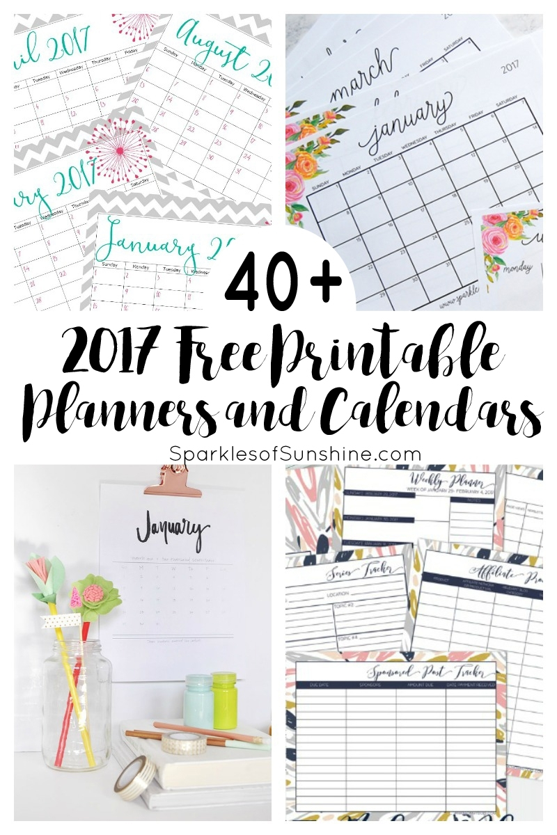 40+ Awesome Free Printable 2017 Calendars And Planners