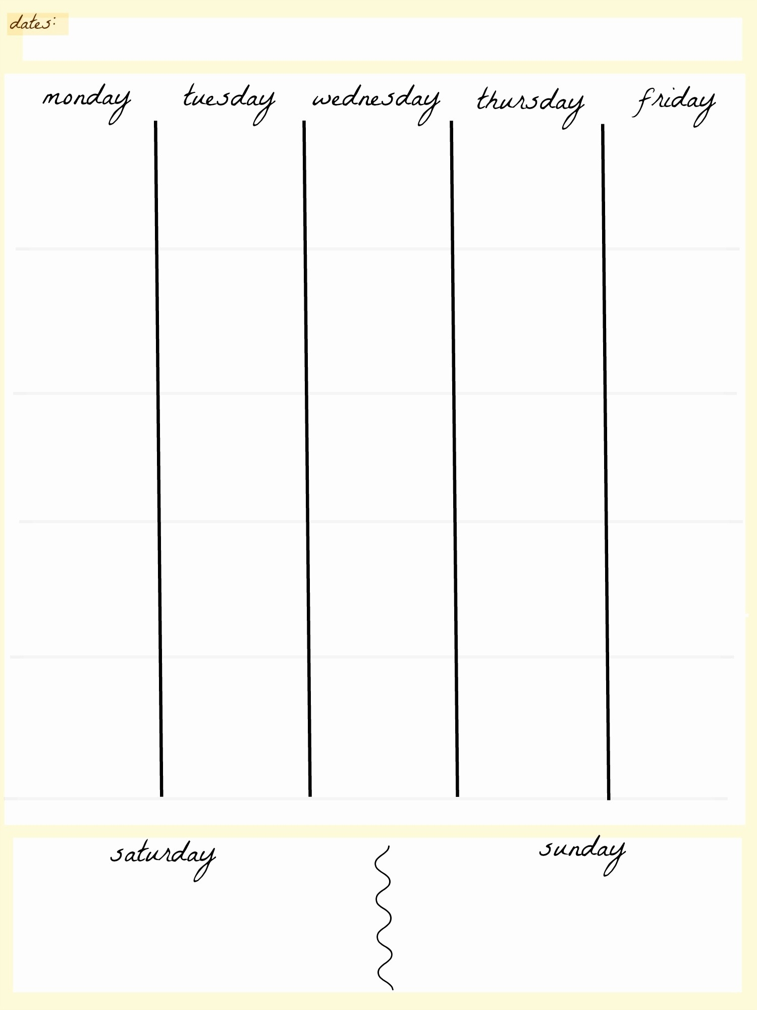5 Day Calendar Template Word Elegant 5 Day Work Week Monthly