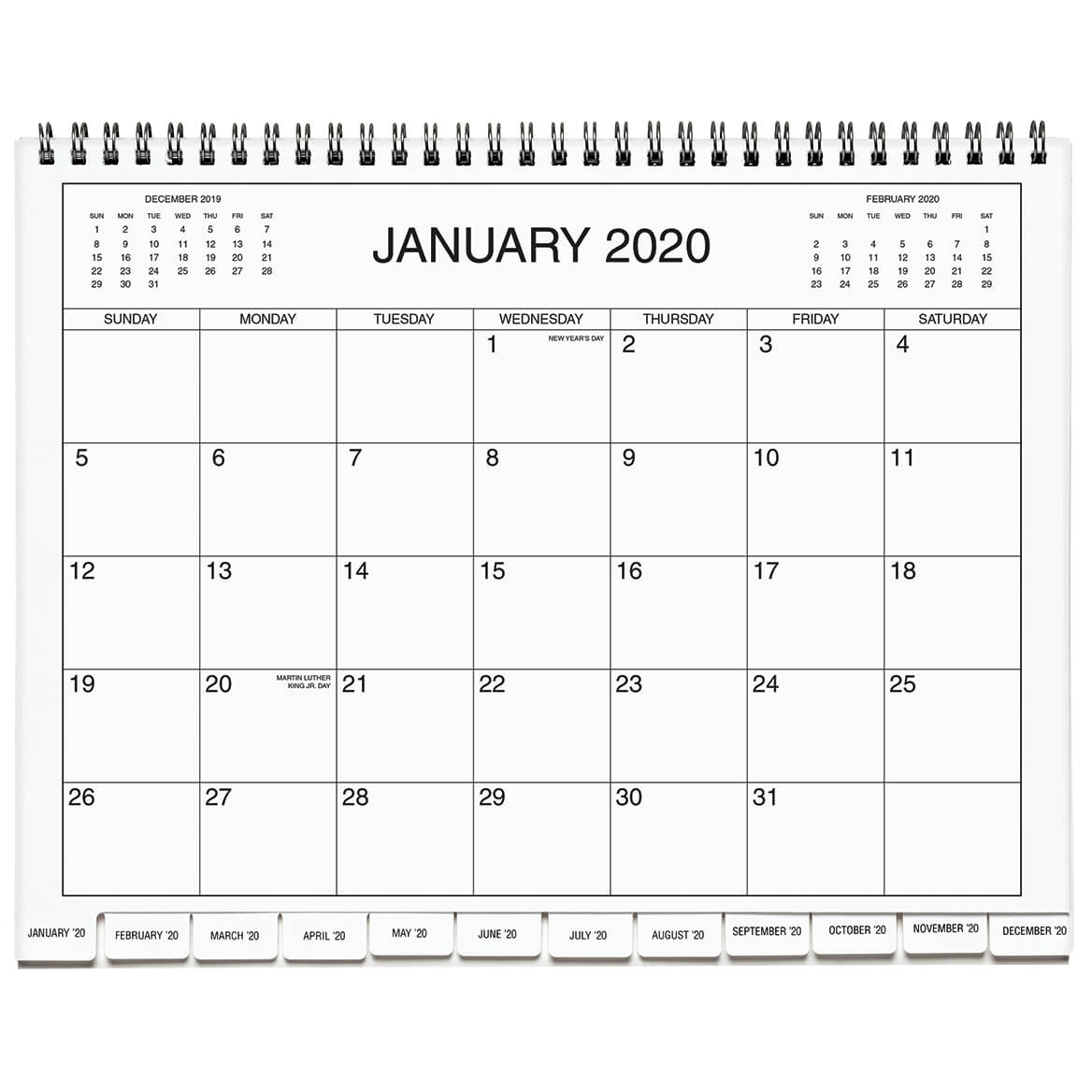 5 Year Calendar Diary 2020-2024 Blue