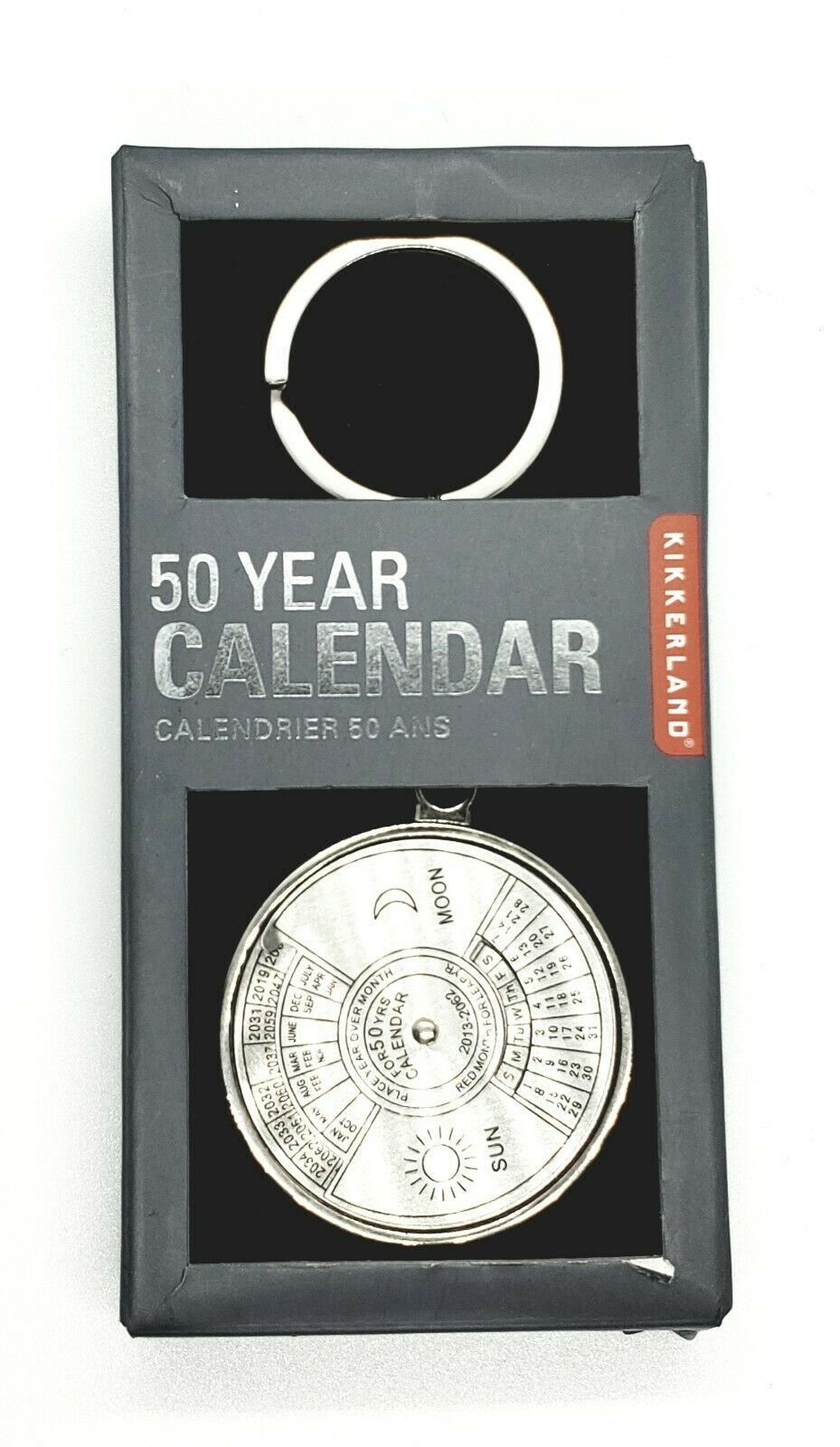 50 Year Calendar Key Chain Ringkikkerland - Brand New