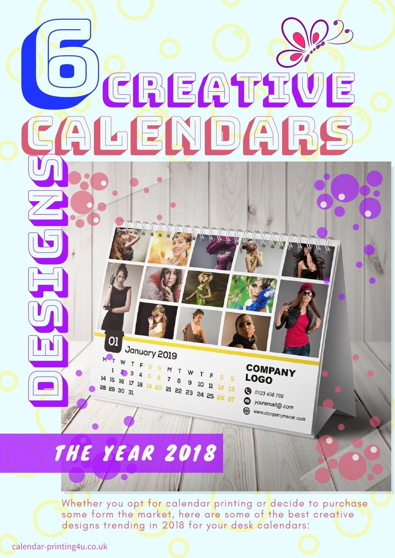 6 Creative Calendar Design Ideas For Your Desk For The Year 2019