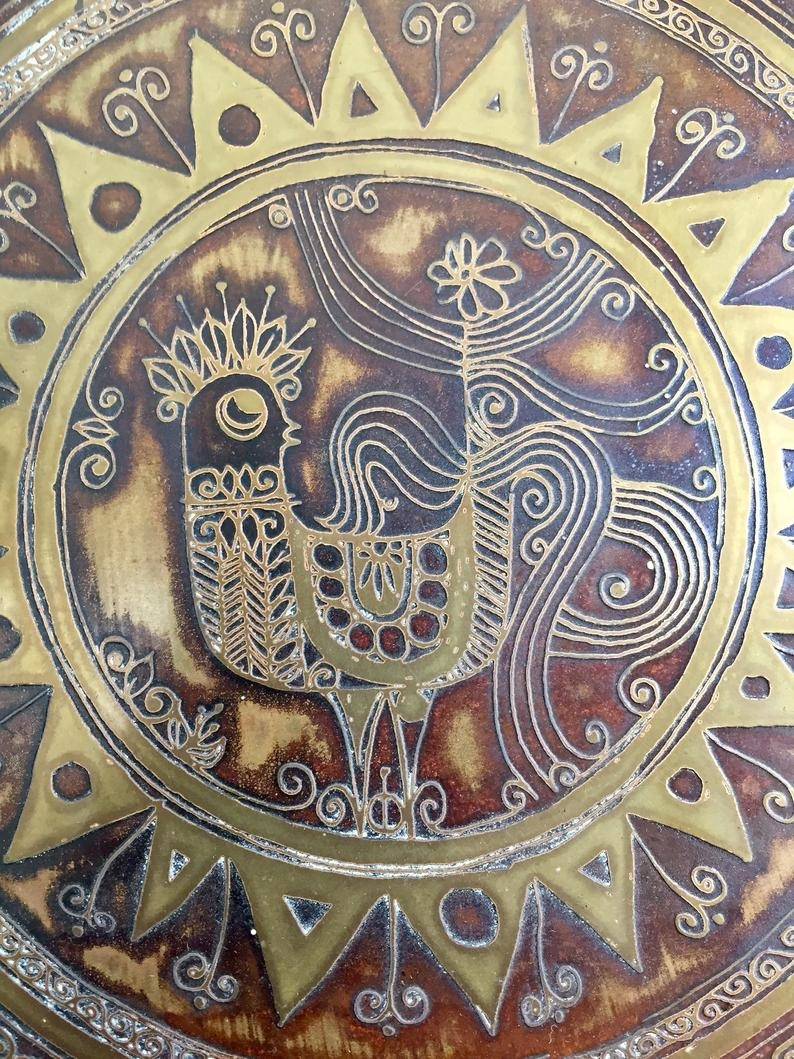 60S Zodiac Signs Astrology Calendar Mod Metal Sanskrit Boho Wall Art India  Groovy